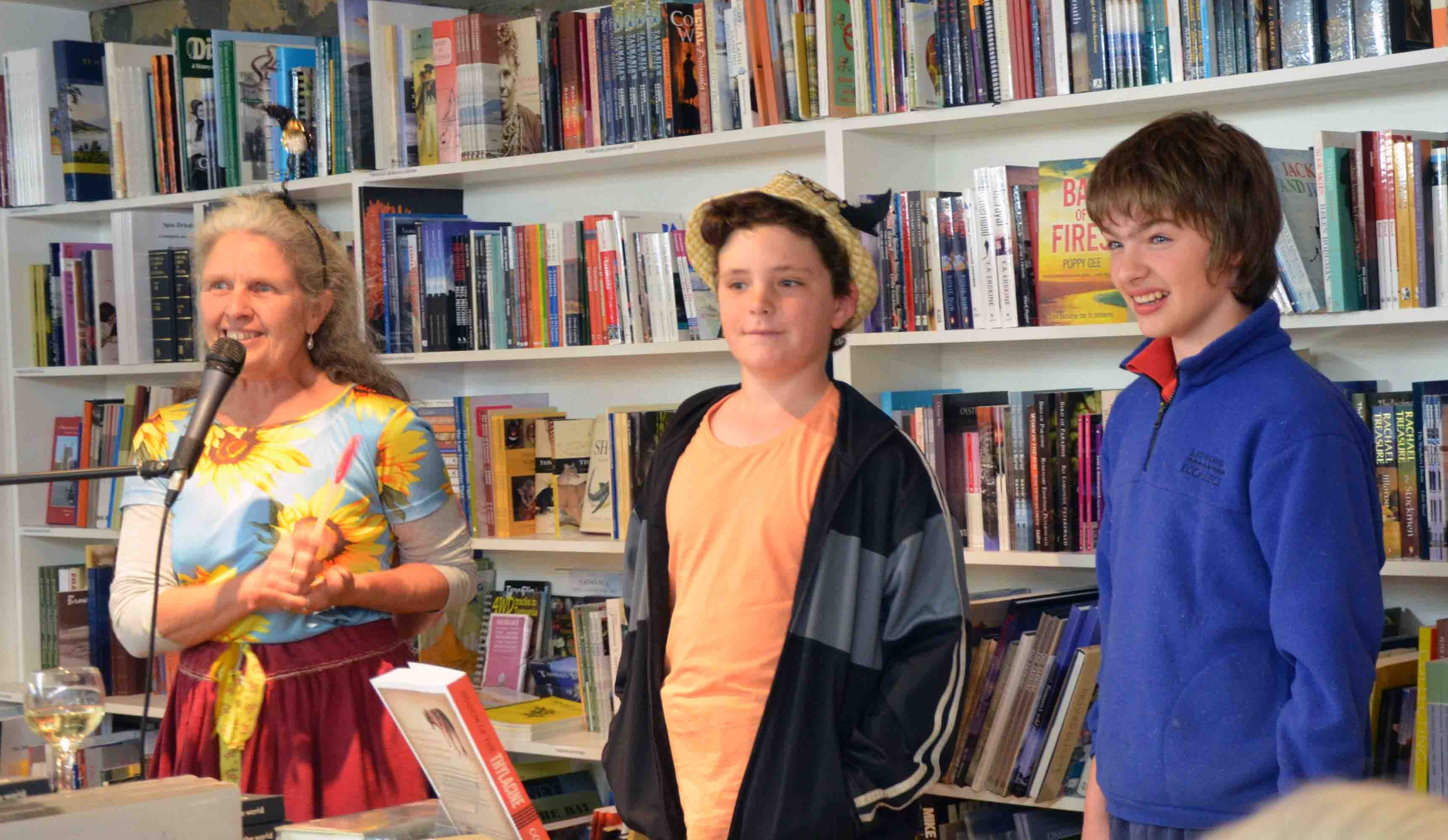 Angie McGowan, Fin and Tas Hughes